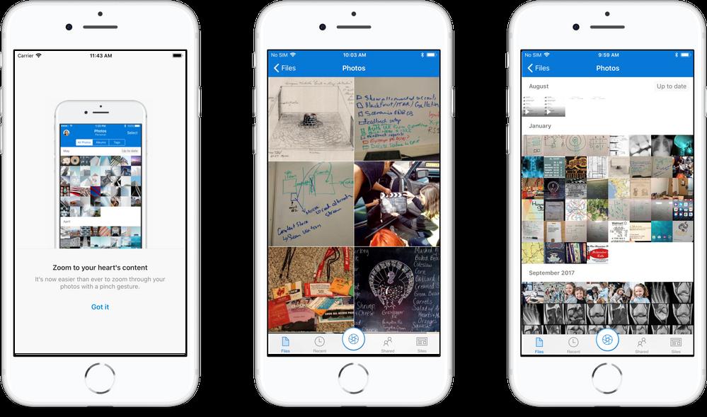 Super Zoom on OneDrive on iOS