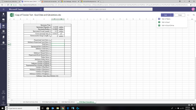 Edit in Excel Mode - Upper Right Corner
