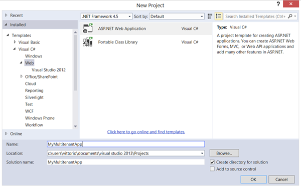 Easy Web App Integration with Windows Azure Active Directory, ASP