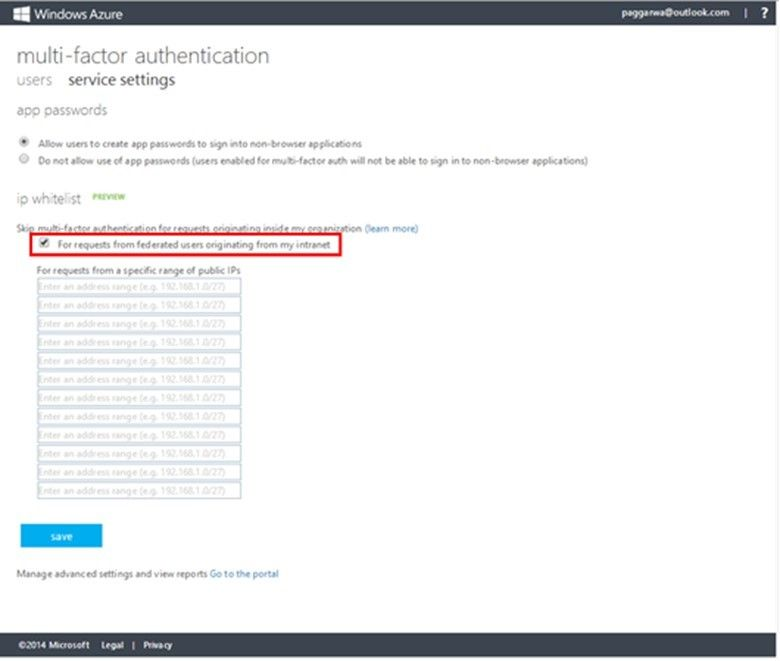 Enhancing Azure MFA with Contextual IP Address Whitelisting