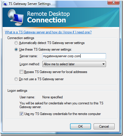 How to enable Single Sign-On for my Terminal Server connections