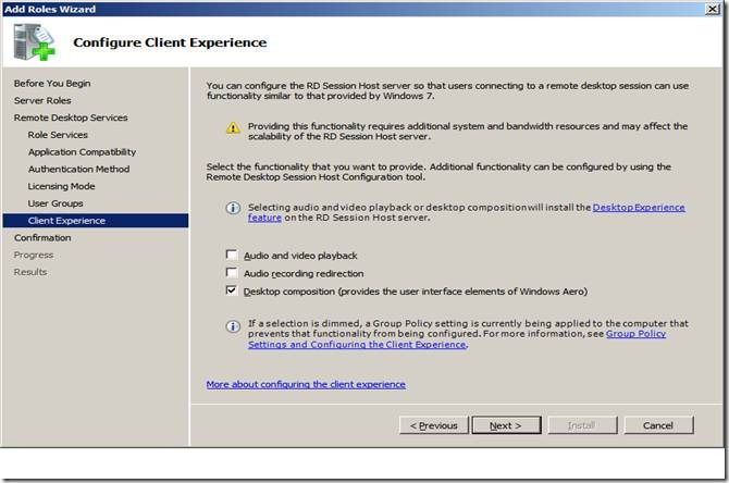 Aero Glass Remoting in Windows Server 2008 R2 - Microsoft