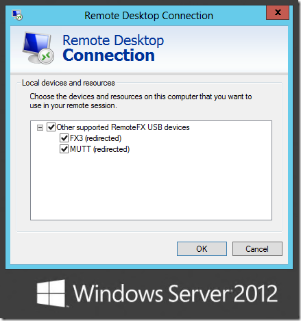 RemoteFX USB Redirection in Windows Server 2012 and Windows