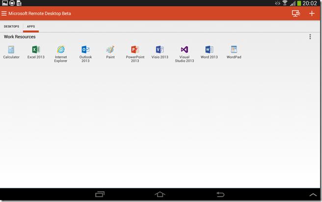 Microsoft Remote Desktop Beta for Android supports Remote Desktop