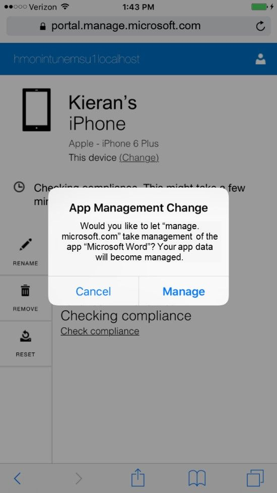 Day Zero Support for iOS 9 with Intune - Microsoft Tech