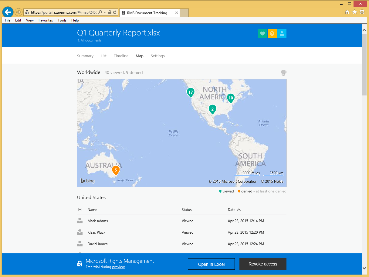 Welcome to Azure RMS Document Tracking - Microsoft Tech Community