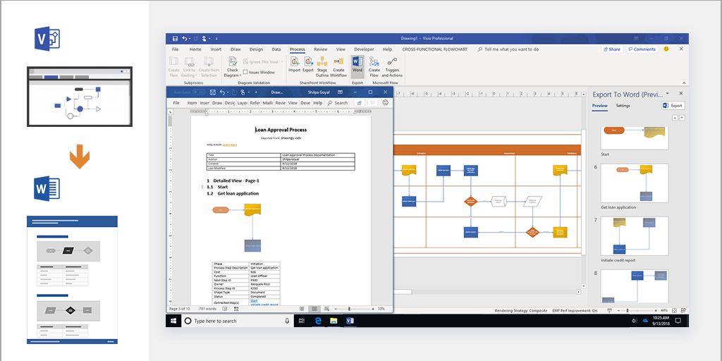 Automatically Document Visio Process Diagrams In Microsoft Word Microsoft Tech Community