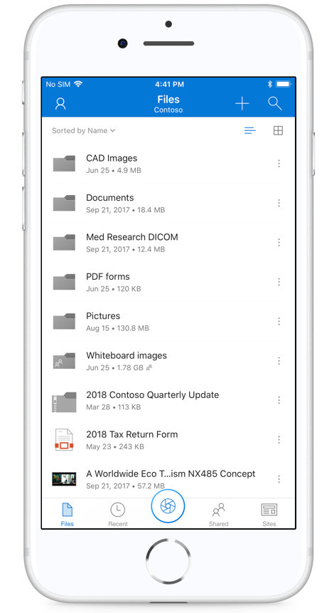 Office Lens in OneDrive mobile for iOS