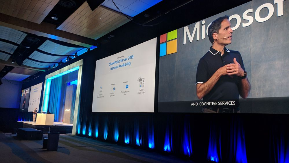 Jeff Teper shares details about SharePoint Serv er 2019 during his general session at Ignite 2018 in Orlando, FL.