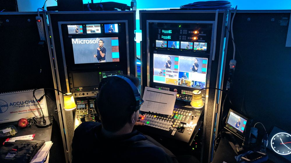 Behind the scenes of Jeff Teper's general session at Ignite 2018 in Orlando, FL.