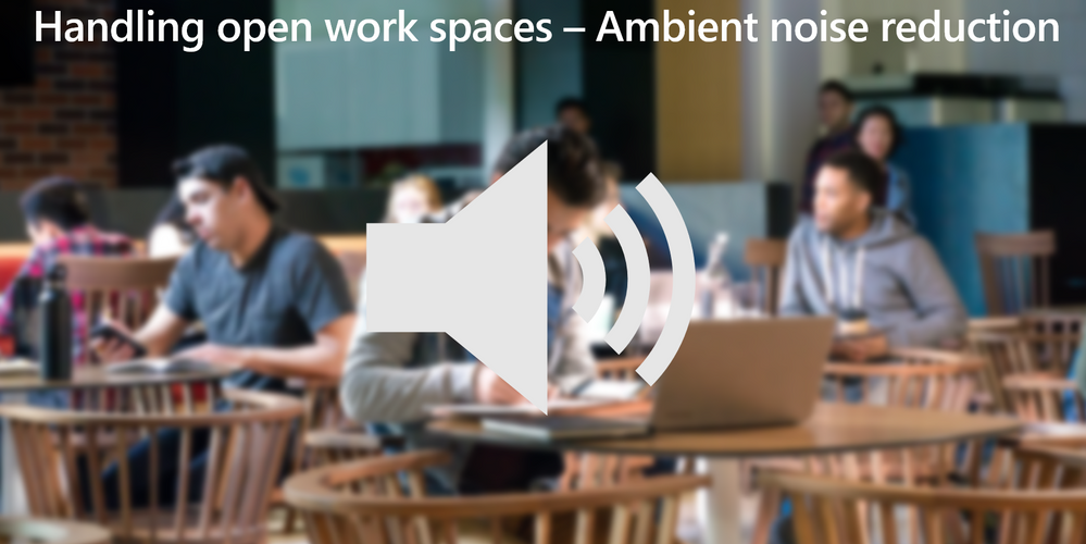 Built-in noise reduction! See the recording to experience