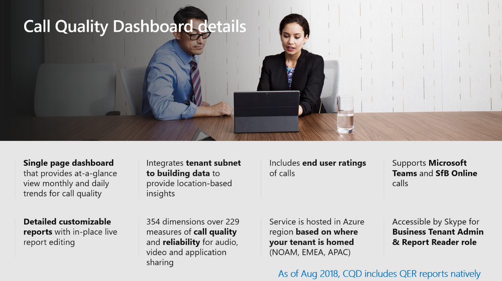 Identify issues using Call Quality Dashboard