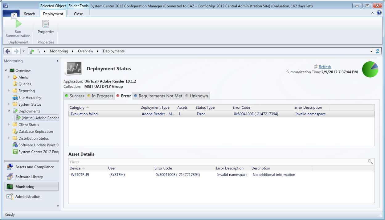 Troubleshooting In-Console Monitoring for Deployments in