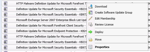 Windows defender and microsoft forefront update wizards.