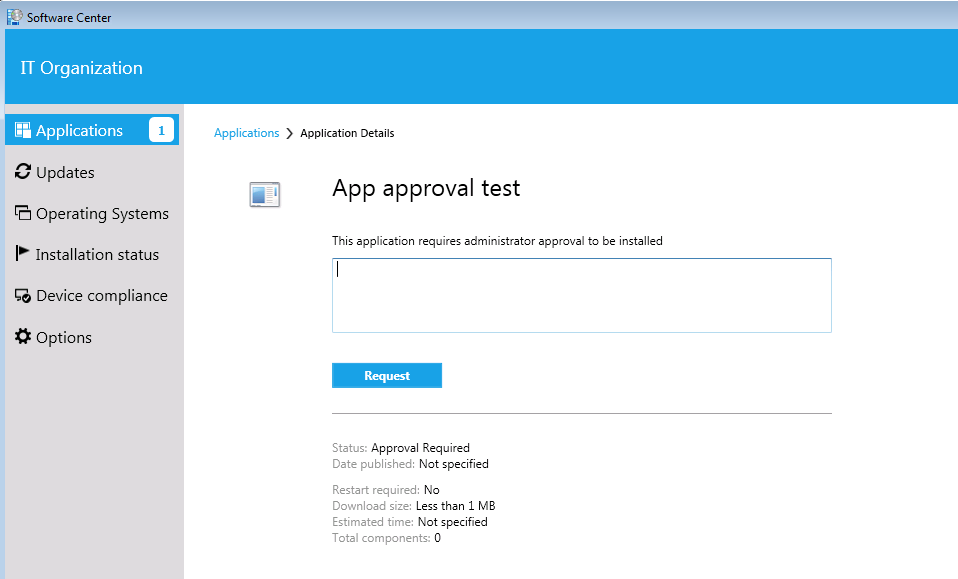 Updates to the application approval process in Configuration Manager