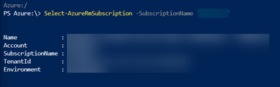 Select-AzureRmSubscription -SubscriptionName <Insert Subscription Name>