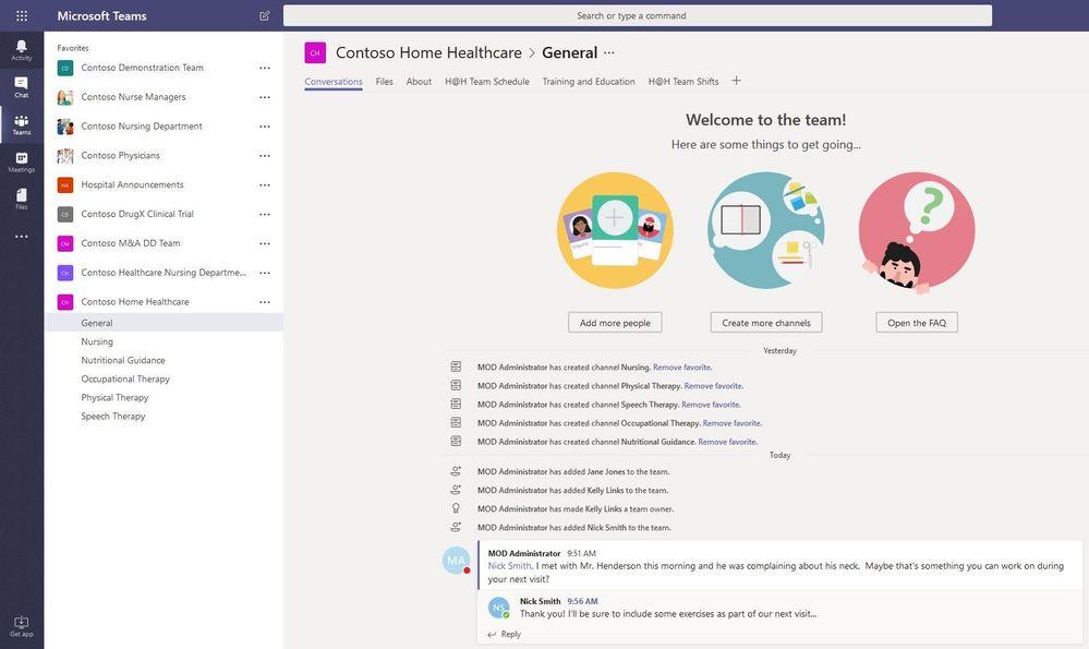 Microsoft Teams Conversations