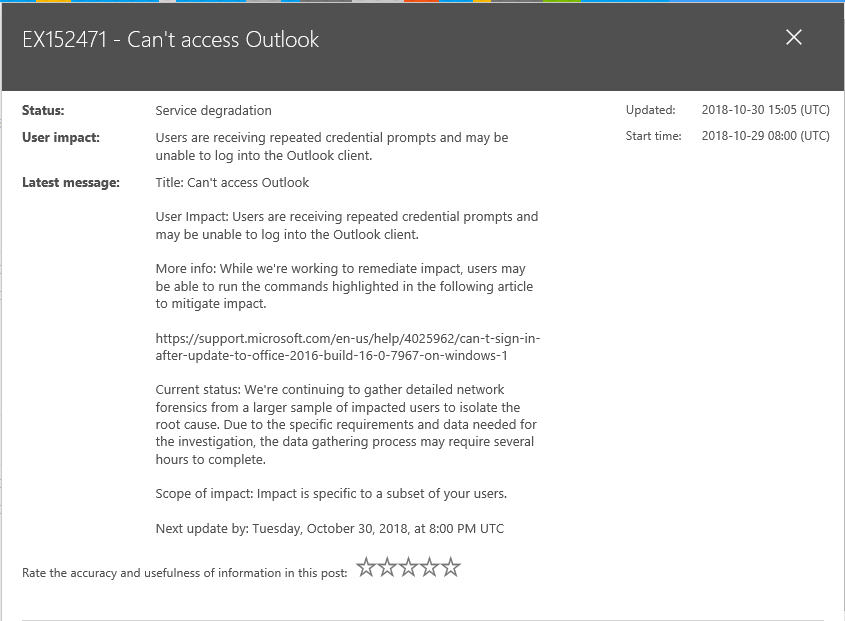 Outlook Login issue warning.png