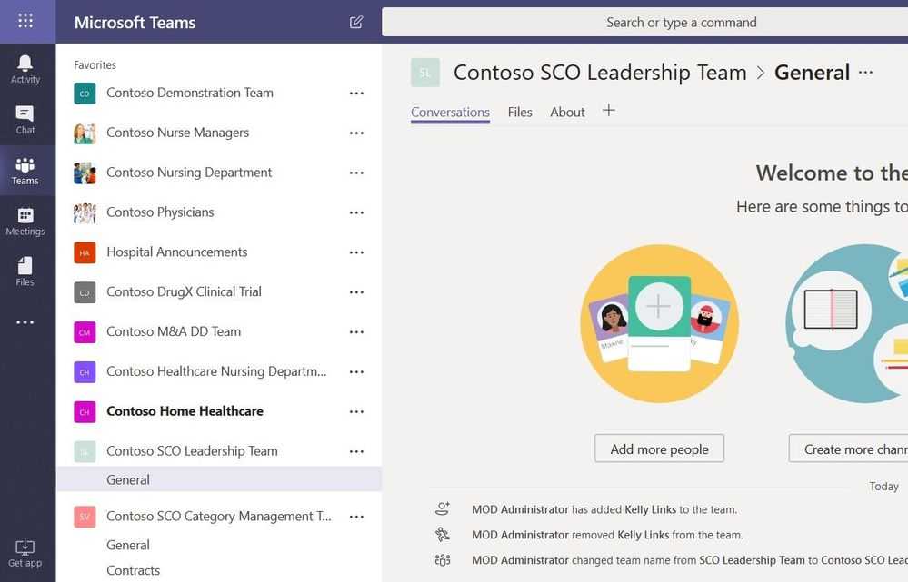 Contoso SCO Leadership Team and SCO Category Management Team