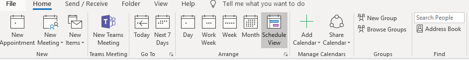 The Calendar Groups button is missing