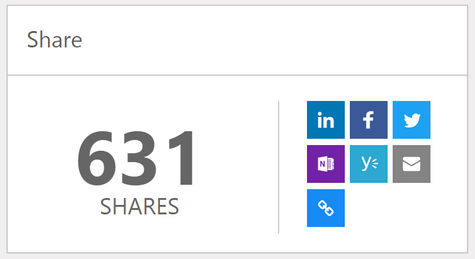 Share counter and sharing buttons