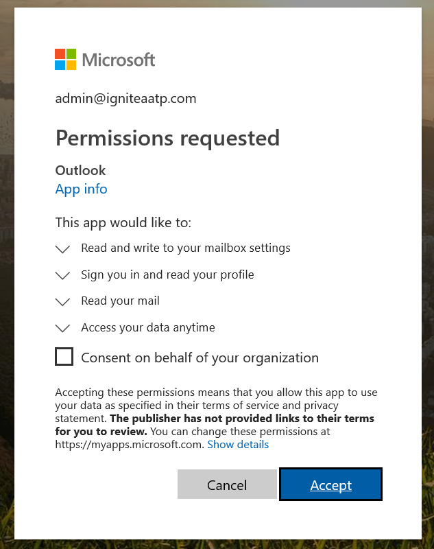 Image 4: Oauth attack of an impersonated cloud app