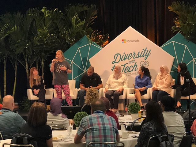 Speakers at one of the Diversity and Tech Empower Lunch panel sessions at Microsoft Ignite