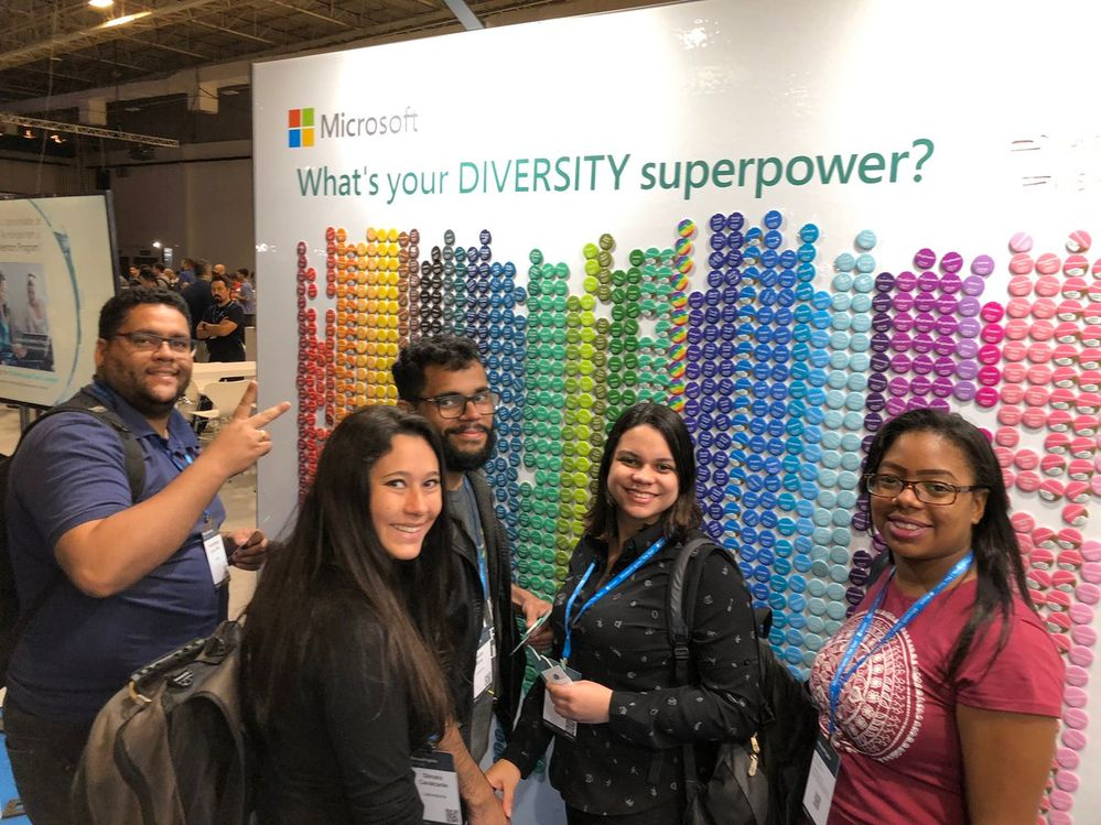 Attendees loving the Diversity Superpower wall at Microsoft Ignite | The Tour in Sao Paulo, Brazil