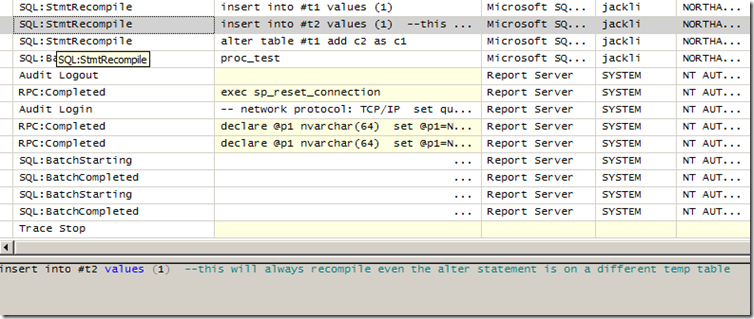 insert exec statement into temp table