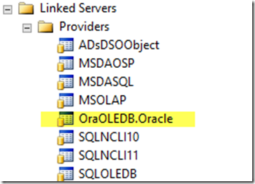 How to get up and running with Oracle and Linked Servers