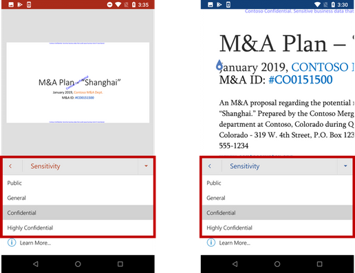 …and in Office mobile apps on Android.