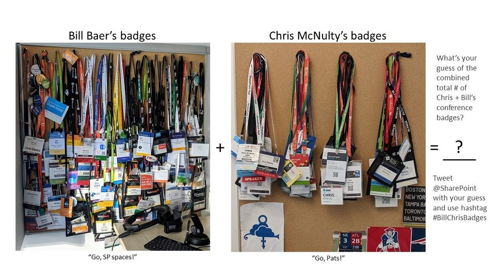 Guess how many conference badges are hanging in Bill Baer and Chris McNulty's office (the combined number).