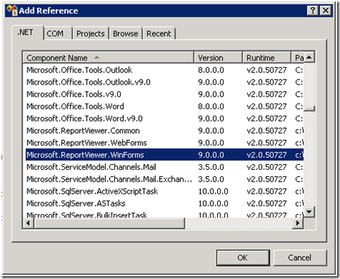 Creating a Dashboard with the Report Viewer Control and a Custom