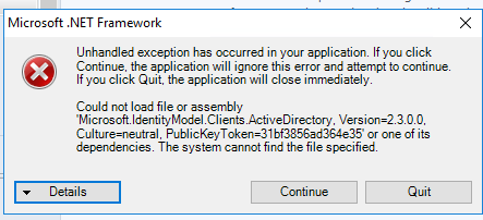 File Not Found Exception while configuring Log Analytics