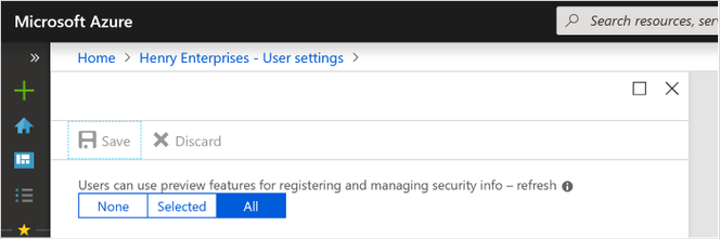 Enable the enhanced security info registration experience.