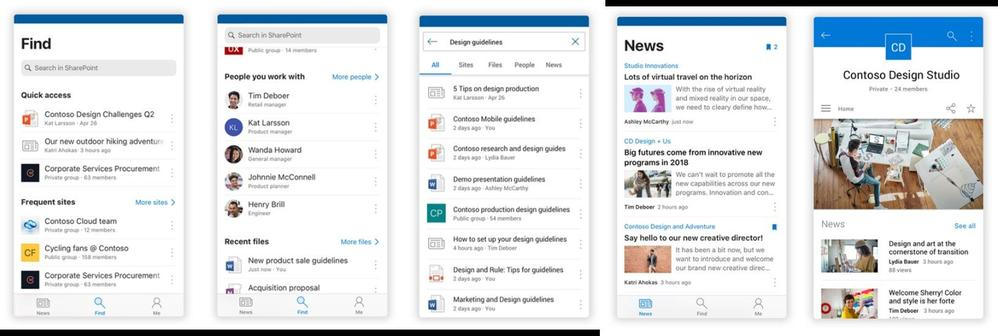 The SharePoint mobile app is designed for those in-between moments. The people you're connected to, the content you find, access and share, and the news you need are always nearby.