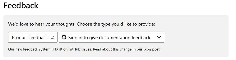 All Azure AD documentation today points to UserVoice directly