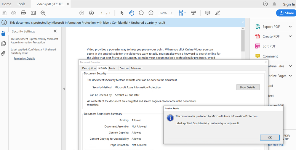 Adobe Integration with Microsoft Information Protection Solutions