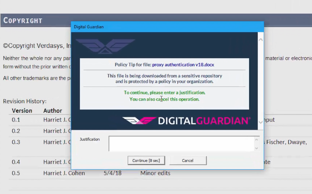 Digital Guardian Endpoint DLP integration with Microsoft Information Protection  SDK