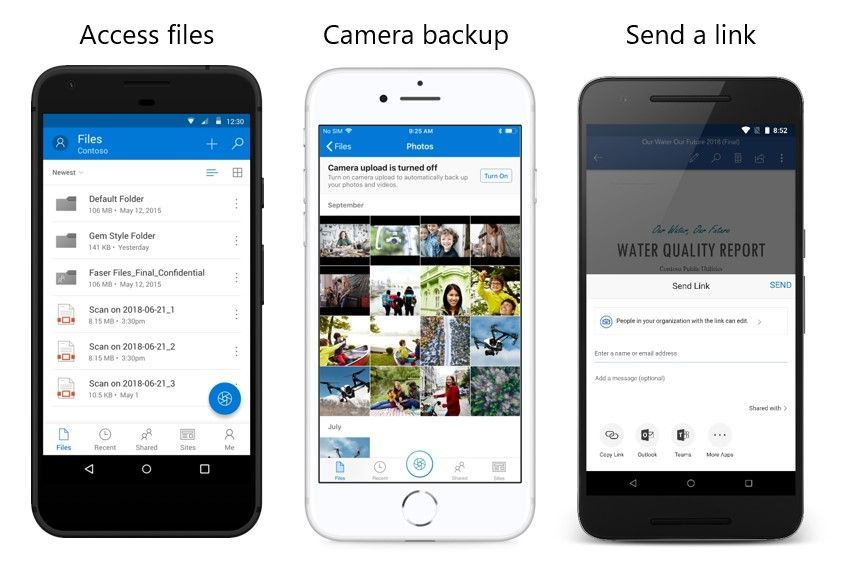 Wherever you go with Microsoft OneDrive, get to and share your documents, photos, and other files from your devices.