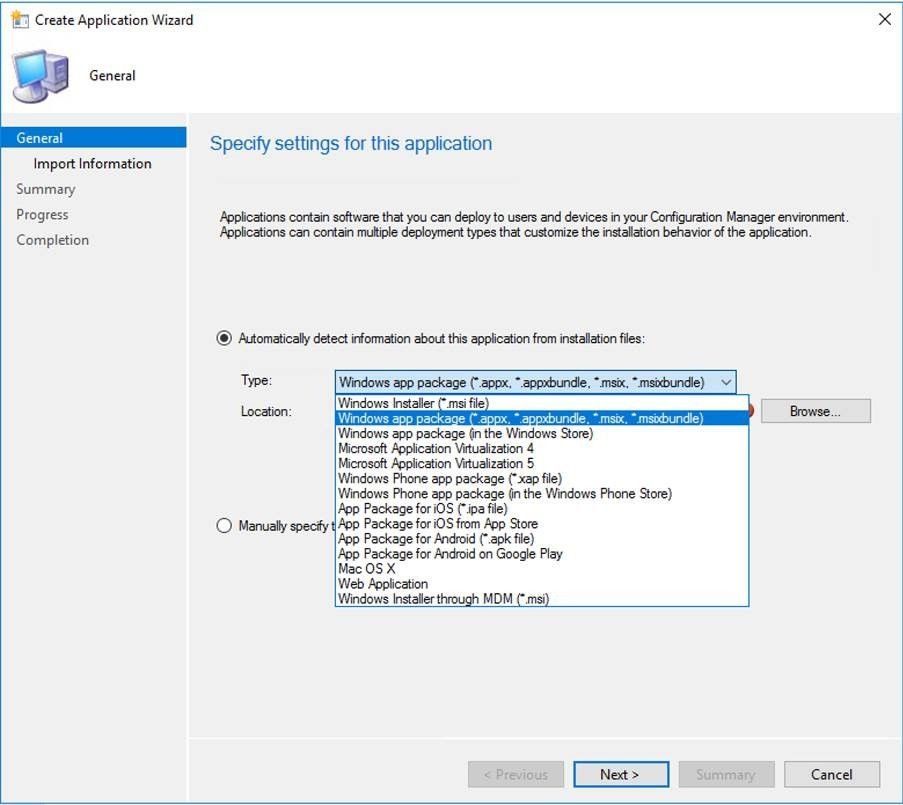 MSIX -  System Center Configuration Manager 1806 supports MSIX