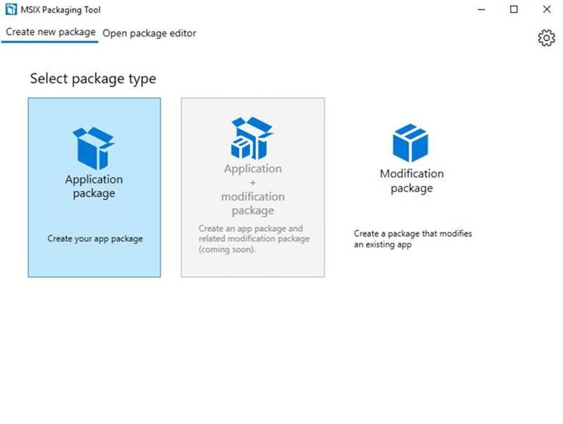 MSIX - The MSIX Packaging Tool - Creating the first package