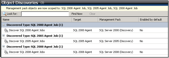 SQL Agent Job Discovery not working?