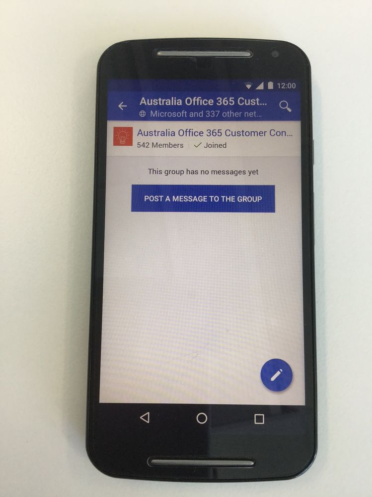 Yammer external group error - Android app