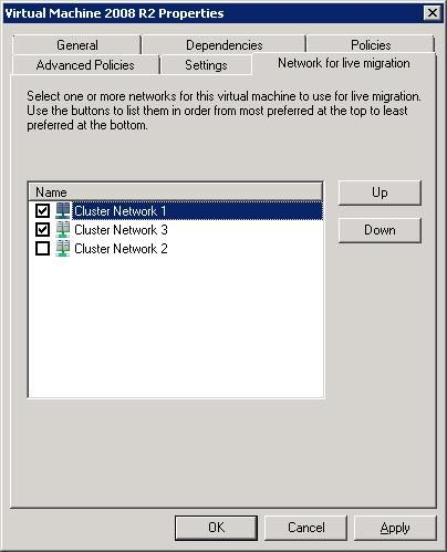 Configuring Network Prioritization on a Failover Cluster