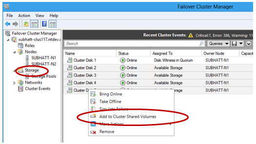 How to add storage to Clustered Shared Volumes in Windows Server 2012