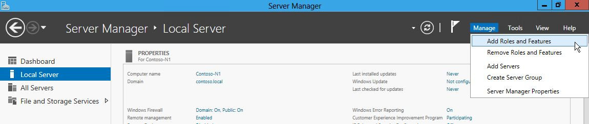 Installing the Failover Cluster Feature and Tools in Windows Server 2012