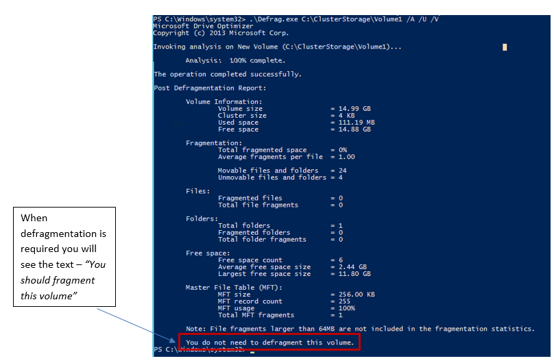 How to Run ChkDsk and Defrag on Cluster Shared Volumes in Windows Server 2012 R2