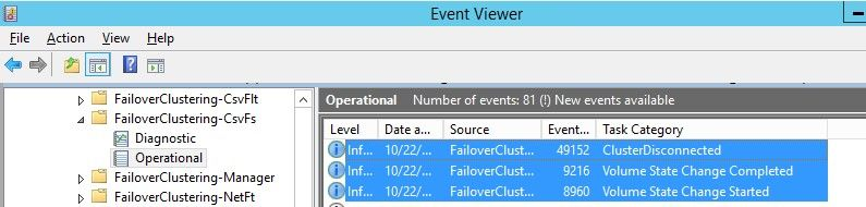 Troubleshooting Cluster Shared Volume Recovery Failure – System Event 5142