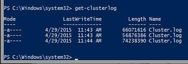 Windows Server 2016 Failover Cluster Troubleshooting Enhancements - Cluster Log